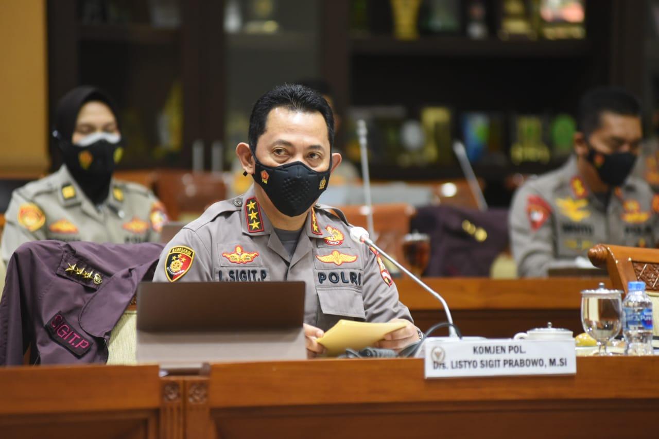 Calon Kapolri Komjen Pol Listyo Sigit: Tak Ada Lagi Hukum Tajam ke Bawah, Tumpul ke Atas