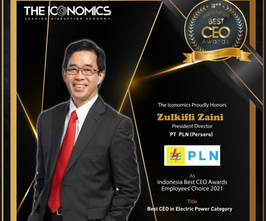 Dirut PLN Raih Penghargaan CEO Terbaik dari The Iconomics