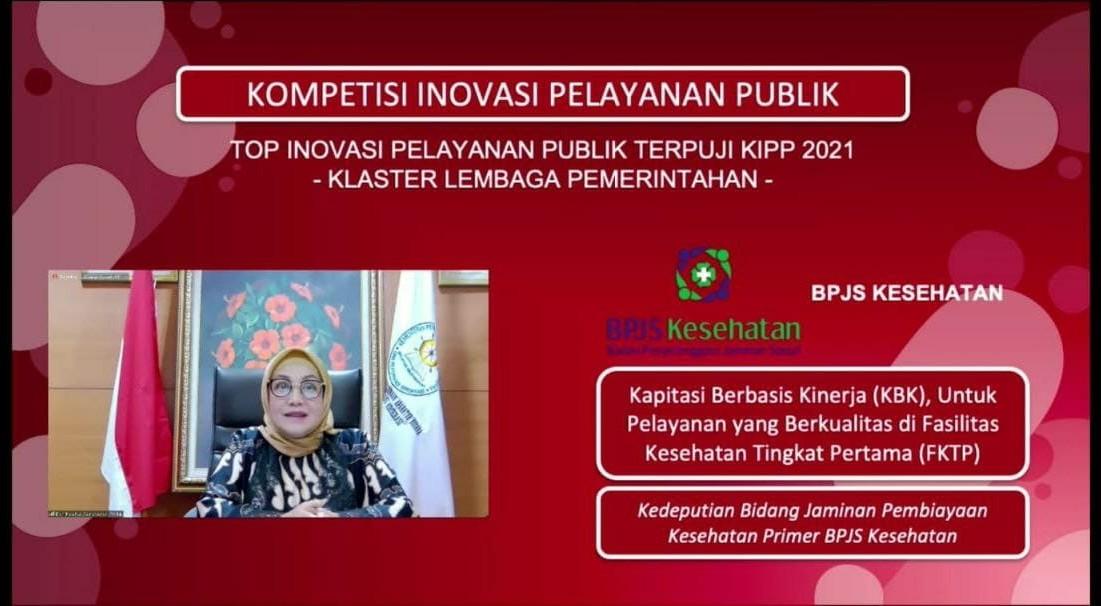 BPJS Kesehatan Masuk Top 45 Inovasi Pelayanan Publik Terpuji Tahun 2021